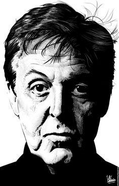 Paul McCartney (Ink Drawing) by wilson-santos