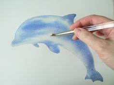 Dolphin Watercolor Demo – 12 step painting! | eastwitching