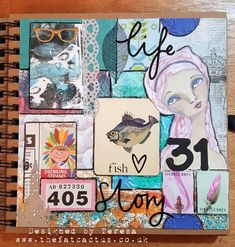 I loved this idea that Nina shared in her video this week – creating a collage from all the bits of ephemera that she received in happy mail. I never know what to do with it all – some …