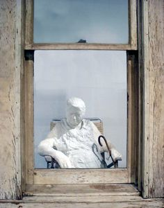 George Segal; Old Woman at the Window; 1965; cast plaster figure