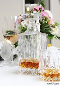 Father's Day gift idea! A gorgeous decanter and tumbler set for his whisky collection. |  Found at TotalWine.com