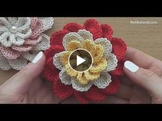I think that a model that is contrary to ordinary knitting flower motifs will do a lot of work. I think that this crochet can inspire different motifs from different floral motifs. Different Crochet Stitches, Crochet Stitches Free, Crochet Motif, Crochet Leaves, Knitted Flowers, Embroidery Flowers Pattern, Crochet Flower Patterns, Diy Crafts Crochet, Crochet Projects