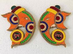 Thali Decoration Ideas, Ganpati Decoration At Home, Diy Diwali Decorations, Diwali Craft, Diwali Diy, Diwali Gifts, Diy Crafts Useful, Bridal Gift Wrapping Ideas, Diy Sock Toys