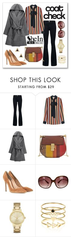 """shein contest"" by gogotasha ❤ liked on Polyvore featuring STELLA McCARTNEY, MANGO, WithChic, Chloé, Gianvito Rossi, Oliver Peoples, Kate Spade, Accessorize, Ariella Collection and Sheinside"