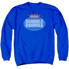 DUBBLE BUBBLE/VINTAGE LOGO-ADULT CREWNECK SWEATSHIRT-ROYAL BLUE