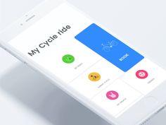 My Cycle ux ui design app mobile minimal clean online bike book Web Design, App Ui Design, User Interface Design, Flat Design, Applications Mobiles, Ui Animation, Mobile Ui Design, Mobile App Ui, Ui Inspiration