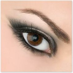 Grey eye make up