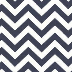 White and Navy Chevron Fabric  (guest bedroom curtains or headboard)