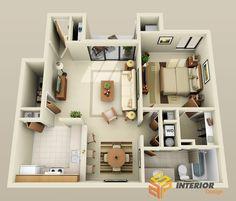 Chiêm ngưỡng thiết kế nhà chung cư 80m2