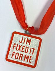 The coveted Jim'll Fix It Medallion.I wanted to sing with ABBA and must have written several times but no luck!