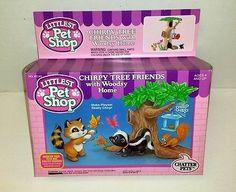1994 VINTAGE KENNER LPS LITTLEST PET SHOP CHIRPY TREE FRIENDS - MIB