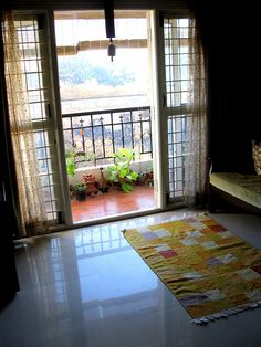 my first entry for the 'Green Thumb Decor' series. In the spot light for March & April is Green Thumb Decor. Small Balcony Garden, Small Balcony Decor, Balcony Design, Balcony Ideas, Window Design, Indian Room Decor, Ethnic Home Decor, Indian Bedroom, Indian Living Rooms