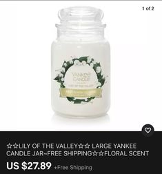 Big Candles, Candles For Sale, Prices Candles, Yankee Candle Jars, Candle Store, Fall Food, Lily Of The Valley, Scented Candles, Wax
