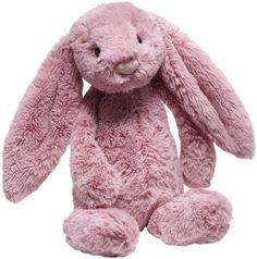 """Jellycat Bashful Bunny Pink Tulip - Medium -12"""" - Free Shipping"""