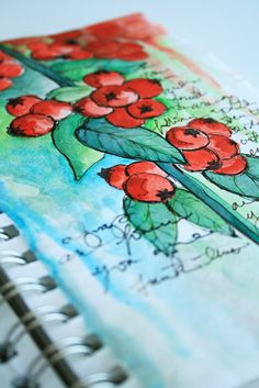 watercolour journaling  - learning to paint like this is on my bucket-list for the next five years.