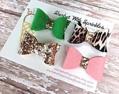 Toddler Girl Hair Bows Felt Hair Bows by sherbetwithsprinkles, $15.00