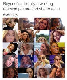 Beyoncé, our expressive queen. <3