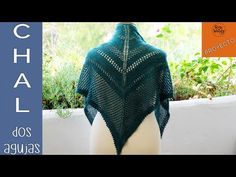 Chal Calado en pico tejido en dos agujas-Soy Woolly - YouTube Crochet Projects, Shawl, Knit Crochet, Youtube, Pullover, Knitting, How To Make, Clothes, Women