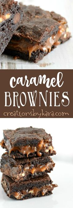 Recipe for the best Caramel Brownies ever! These brownies are so decadent, a real crowd pleaser. Chocolate and caramel fans cannot resist these caramel brownies!