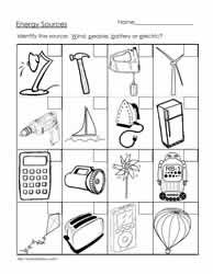 Worksheet Light Energy Worksheets For Kids lots of energy worksheet printables free worksheets and booklets