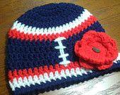 Baby Girl NFL New England Patriots Football Sports Fan Beanie Hat/Boy/Girl/Photo Prop