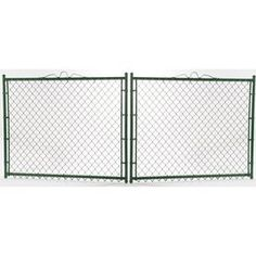 Vinyl Coated Steel Chain-Link Fence Gate (Common: 4-Ft X 12-Ft; Actual
