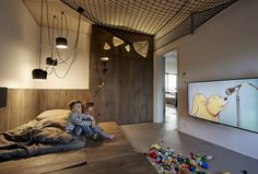 Creative Kids, Rooms, Penthouse, Beef, and Architekti image ideas & inspiration on Designspiration Interior Decorating, Interior Design, Contemporary, Modern, Minimalism, Toddler Bed, Space, Bedroom, Furniture