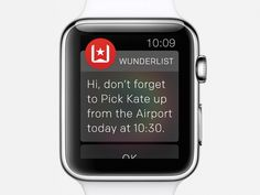 Wunderlist for Apple Watch (Actionable Notification) by Timothy ッ for Wunderlist
