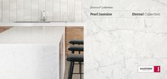 Delicate and sleek, the new Pearl Jasmine is part of the Silestone Eternal Series.  #design #interiordesign