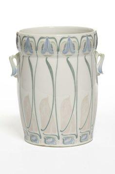 Georges de Feure (French, 1868-1943), Glaze Decorated Porcelain Pot.