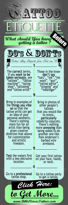 """TATTOO SHOP ETIQUETTE - from Kat Von D... In Her 1st Book Titled:""""High Voltage Tattoo"""", Kat Von D of 'LA Ink' Explains that There Is a Bunch of Etiquette Guidelines You Should Keep in Mind Before Heading to the Tattoo Shop... - - - - - - - - - - - - - - - - - - - - - - -"""