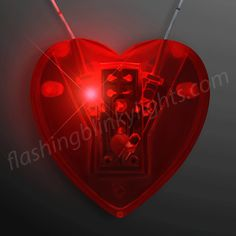 "Red Heart Light Necklace, LED ""Neon Look"" - SKU NO: 12053-HEART"