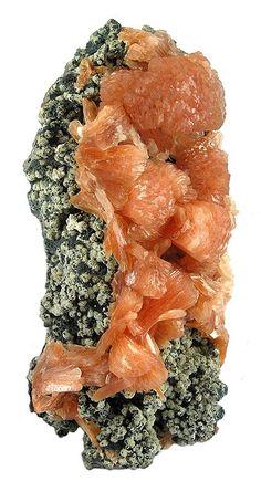 7.2 Stilbite (Hydrated Sodium Calcium Aluminum Silicate) - Red Stilbite - Jalgaon, Maharashtra, India.