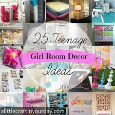 25 Teenage Girl Room Decor Ideas - A Little Craft In Your Day - Cool Diy Ideas & Tutorials For Teenage Girls& Bedroom Decoration - For Creative Juice Teenage Girl Room Decor, Teenage Girl Bedrooms, Girls Bedroom, Bedroom Ideas, Bedroom Decor, Girl Rooms, Girl Decor, Room Girls, Teen Decor