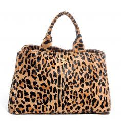 b54b0b8fabb2 PRADA Cavallino Leopard Print Calf Hair Shopping Tote Designer Handbags  Outlet, Hair Shop, Prada