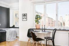 Post: Un hogar en 34 m² --> blog decoración nórdica, decoración en gris, decoración minipisos, decoración pisos suecos, diseño pisos pequeños, estudio diáfano, interiores espacios pequeños, planta abierta, Un hogar en 34 m²