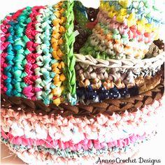 Ribbon Crochet Basket: free pattern ✿⊱╮Teresa Restegui http://www.pinterest.com/teretegui/✿⊱╮