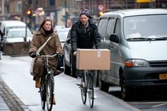 https://flic.kr/p/aPVk4X | Copenhagen Bikehaven by Mellbin - Bike Cycle Bicycle - 2011 - 1014 | When shooting street pictures everyone will have their own interpretation of what's going on. Here goes mine: Couple back from Saturday shopping.