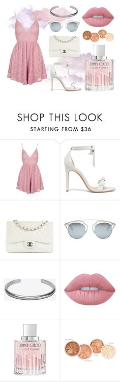 """Untitled #753"" by ele-b-s ❤ liked on Polyvore featuring Topshop, Alexandre Birman, Chanel, Christian Dior, Maison Margiela, Lime Crime and Jimmy Choo"