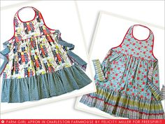 FreeSpirit-Rowan 1010 Series: Farm Girl Reversible Apron in Felicity Miller/Charleston Farmhouse Farm Girl Style, Homemade Aprons, Apron Diy, Apron Pattern Free, Apron Tutorial, Childrens Aprons, Cute Aprons, Sewing Aprons, Aprons Vintage