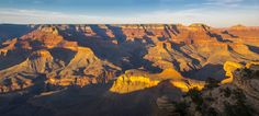 Gouden avondlicht over de Grand Canyon, VS