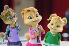 eleanor brittany & jeannette from   alvin and the chipmunks the squeakquel & chipwrecked