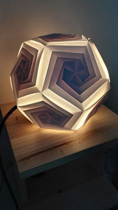 Dodecahedron paper lamp