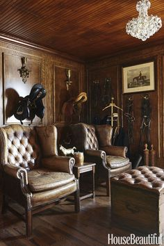 Masculine Room, Horse Barn Designs, Horse Barn Decor, Equestrian Decor, Equestrian Style, Horse Stables, Horse Barns, Room Inspiration, Home Remodeling