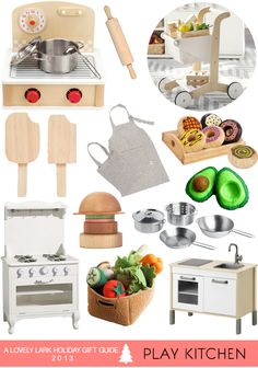 A Lovely Lark: Holiday Gift Guide Play Kitchen Kids Play Kitchen, Toy Kitchen, Wooden Kitchen, Play Kitchens, Holiday Gift Guide, Holiday Gifts, Little Girl Gifts, Woodworking For Kids, Guest Gifts