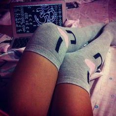 ImageFind images and videos on We Heart It - the app to get lost in what you love. Sexy Socks, Cute Socks, Lounge Outfit, Lounge Wear, Pajama Day, Just Girly Things, Girls World, Getting Cozy, Pretty Shoes