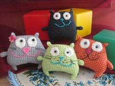 Cute crochet cats