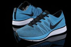 Wholesale Discount Nike FlyKnit Trainer Blue Glow Black White for Mens running shoes Basketball Shoes Store