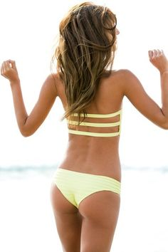 Yellow flexible swim suit for summers..Click on the pic for more outfits
