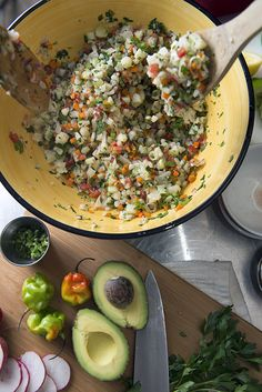 Cauliflower ceviche an Original recipe from ` Yes, more please!